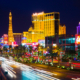 Downtown Las Vegas at night. Online DBT therapy can help overcome internal battles. Speak to an online therapist in Las Vegas today. 89131 | 89143